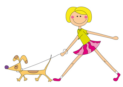 dogs being walked dog breeds picture